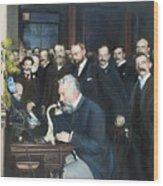 Alexander Graham Bell Wood Print