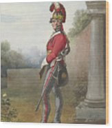 Alexander Ivanovitch Sauerweid 1783-1844 British Army. Private, Life Guards. About 1816 Wood Print