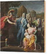 Alexander The Great Receiving The Family Of Darius IIi Wood Print