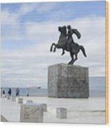 Alexander The Great, Thessaloniki, Greece Wood Print