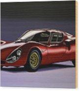 Alfa Romeo 33 Stradale 1967 Painting Wood Print
