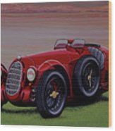 Alfa Romeo 8c 2900a Botticella Spider 1936 Painting Wood Print