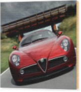 Alfa Romeo 8c Competizione Wood Print