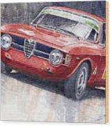 Alfa Romeo Giulie Sprint Gt 1966 Wood Print by Yuriy  Shevchuk