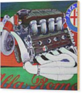 Alfa Romeo Indy Engine Wood Print