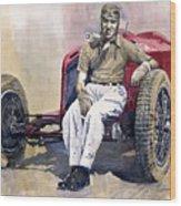 Alfa Romeo Monza Tazio Nuvolari 1932 Wood Print
