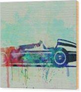 Alfa Romeo Tipo Watercolor Wood Print by Naxart Studio