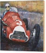 Alfa Romeo158 British Gp 1950 Luigi Fagioli Wood Print