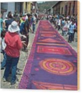 Alfombra In Purples Wood Print