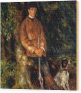Alfred Berard And His Dog 1881 Wood Print