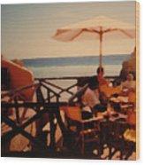 Algarve Beach Bar Wood Print
