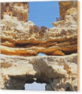 Algarve Rock Tunnel Wood Print