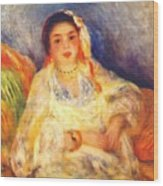 Algerian Woman Seated 1882 Wood Print