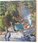 Algonquin Campsite Wood Print