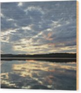 Algonquin Lake Sunset Wood Print