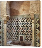 Alhambra Palace Baths Wood Print