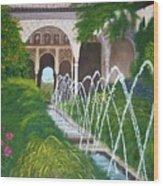 Alhambra Palace Wood Print