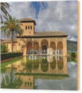 Alhambra Pool Wood Print
