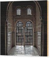 Alhambra Window Wood Print
