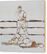 Ali Knockout Wood Print