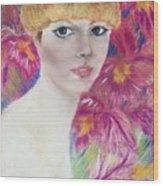 Ali Macgraw In Orange Hat Wood Print