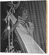 Alice Coltrane On Harp Wood Print