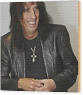 Alice Cooper Happy Wood Print