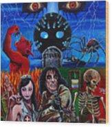 Alice Cooper Nightmare Wood Print