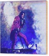 Alice Cooper On Stage Wood Print