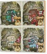 Alice Of Wonderland Series Wood Print