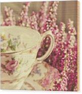 Alice's Breakfast Wood Print