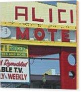Alicia Motel Las Vegas Wood Print