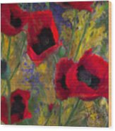 Alicias Poppies Wood Print