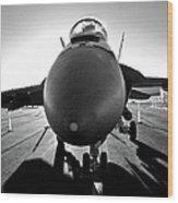 Alien Aircraft Wood Print