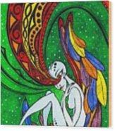 Alien Angel Wood Print
