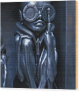 Alien Baby By Giger Wood Print