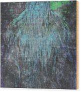Alien Bigfoot Wood Print