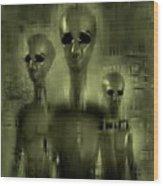 Alien Brothers Wood Print