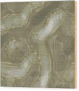 Alien Fluid Metal Wood Print