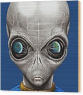 Alien From Space Wood Print