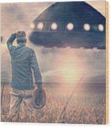 Alien Invasion Wood Print