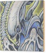 Alien Movie Creature Wood Print