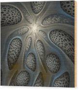 Alien Nest Wood Print by Amorina Ashton