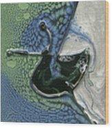 Alien Ocean Sigil Wood Print