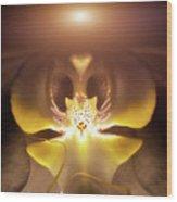 Alien Orchid Wood Print by Wim Lanclus