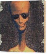 Alien Portrait Wood Print