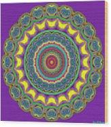 Alien Prayer Circle Wood Print