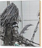 Alien Predator Wood Print by Yurix Sardinelly