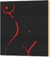 Alien Smile Wood Print