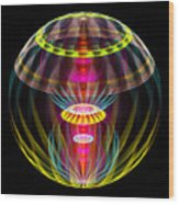 Alien Sphere Fractal Fantasy Wood Print
